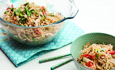 Recipe of the Month: Sesame chicken satay noodles