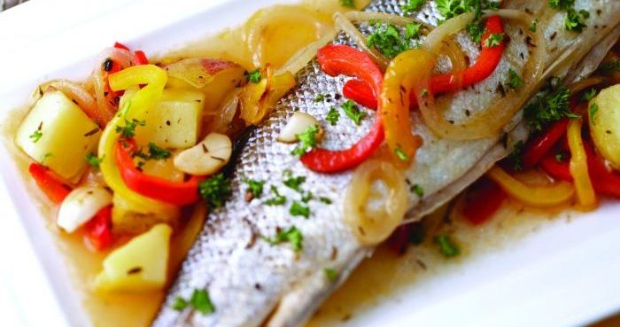 Mediterranean roasted seabass Easy Food