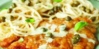 Chicken lemon piccata spaghetti Easy Food