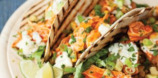 Buffalo chicken and blue cheese tortillas Easy Food
