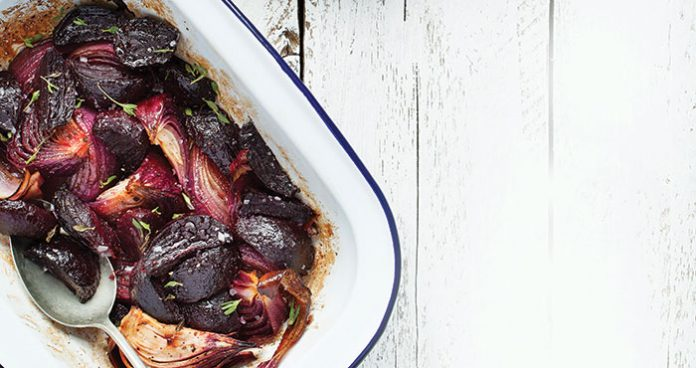 Red onion and beetroot bake Easy Food