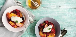 Sauteed fruits with honeyed Mascarpone Easy Food