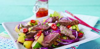Asian steak salad with pineapple Easy Food