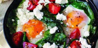 Egg, spinach, tomato bake Easy Food