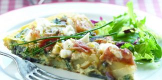 Feta, herb and Prosciutto frittata Easy Food