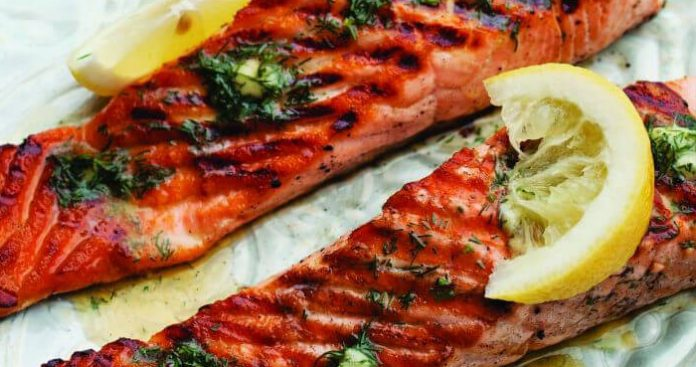 Barbecue salmon fillets Easy Food
