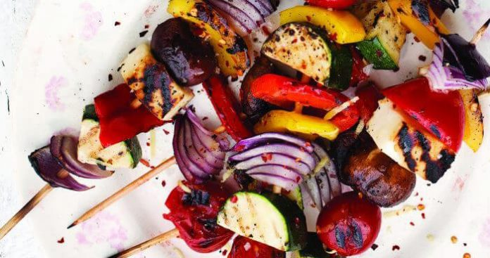 Veggie skewers Easy Food