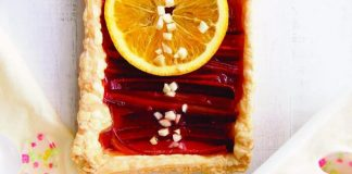 Orange rhubarb tart Easy Food