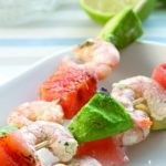 Grilled prawn skewers Easy Food
