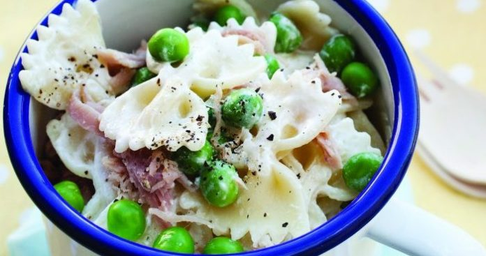Lemony pea and ham pasta salad Easy Food
