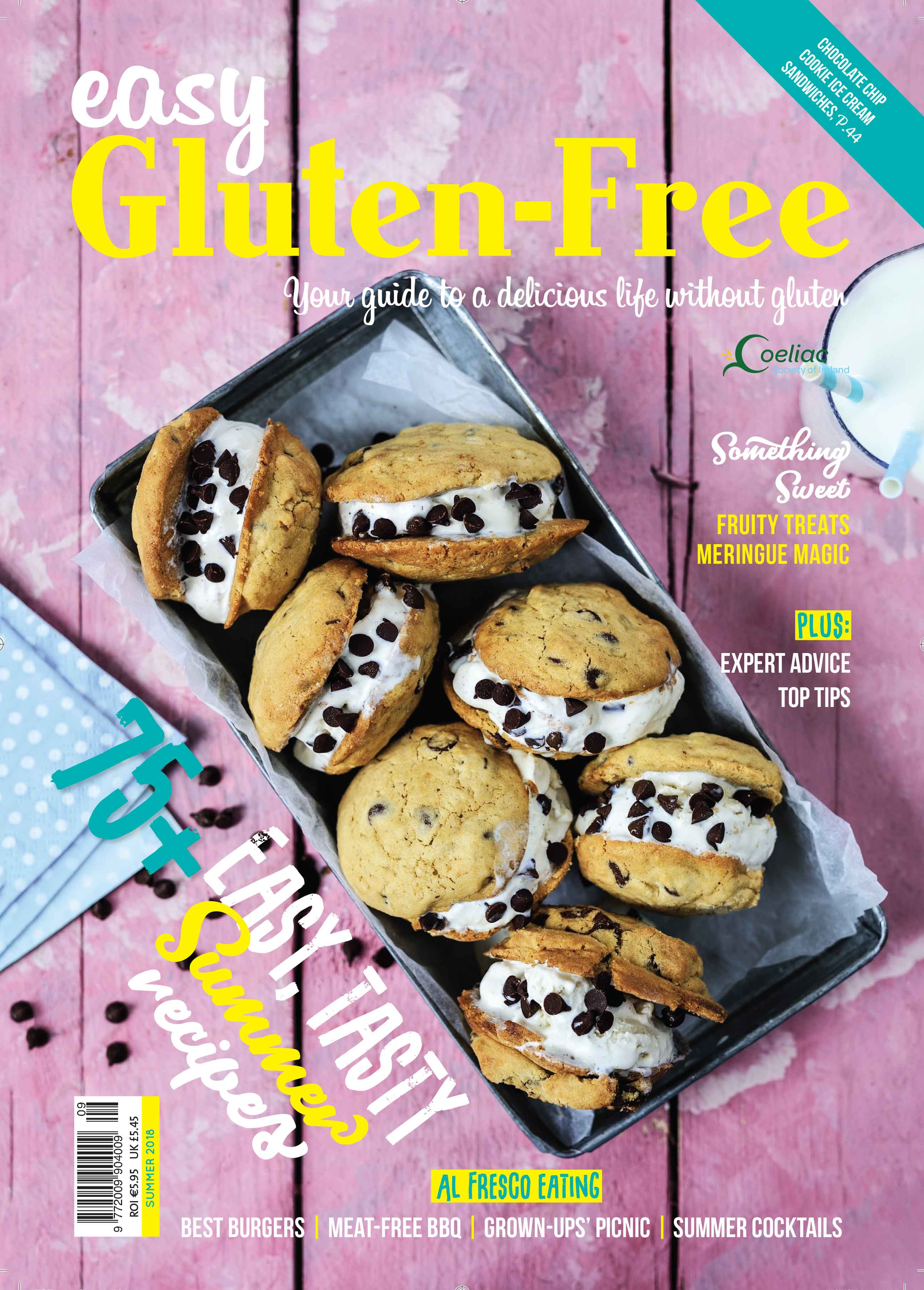 Easy Gluten Free issue 9 cover summer 2018