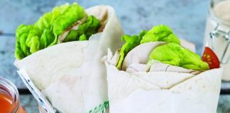Turkey Caesar wraps Easy Food