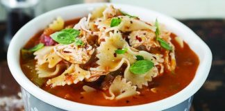 Chicken pasta soup Easy Food