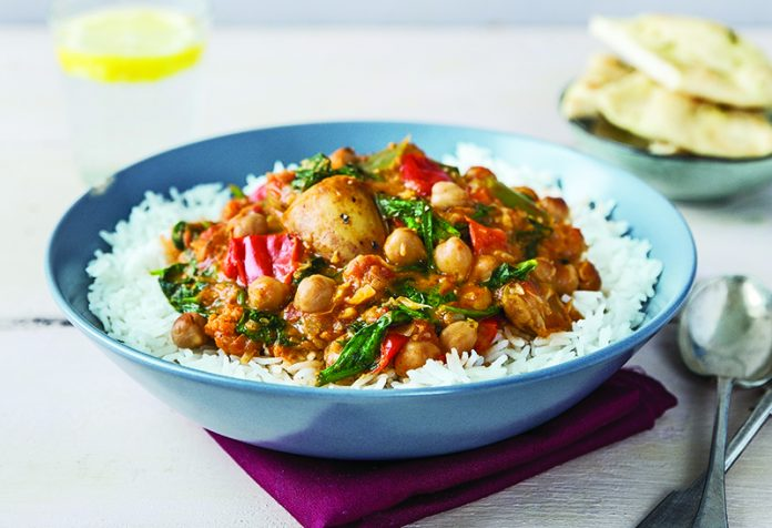 Curried vegetable and chickpea stew | Easy Food