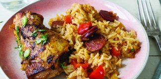 Chicken thighs with dirty rice Easy Food