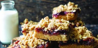 Peanut butter jam bars Easy Food