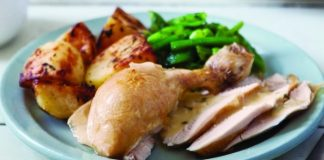 Roast chicken with lemon and tarragon sauce Easy Food