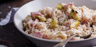 Ham and sprout risotto Easy Food