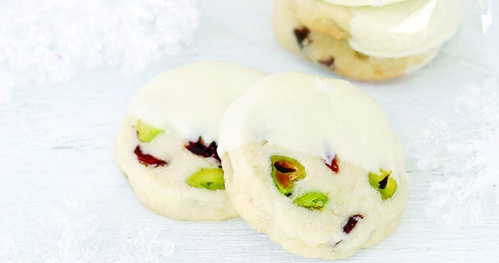 Cranberry, pistachio and white chocolate cookies Easy Food
