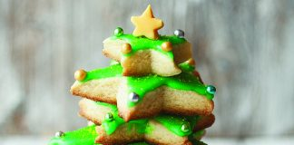 Christmas tree biscuit stacker Easy Food