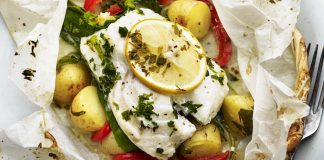 Baked New Potato and Cod en Papillote Easy Food