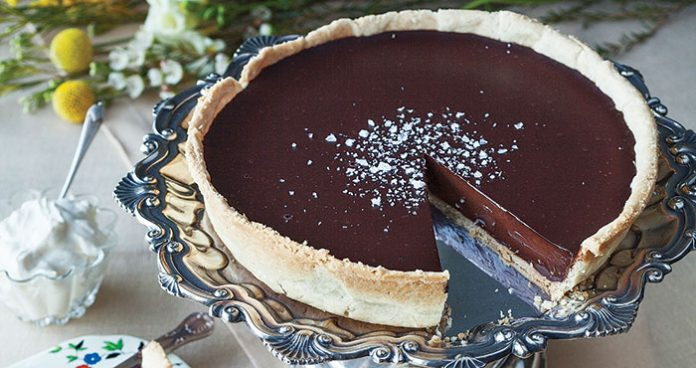 Sea salt chocolate tart Easy Food