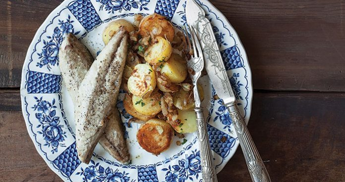 Grilled mackerel with Indian spiced potatoes Easy Food