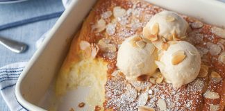 Lemon and almond pudding Easy Food