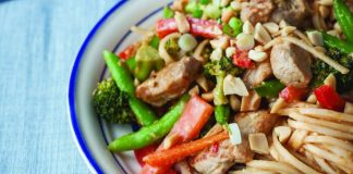 Pork satay stir fry Easy Food
