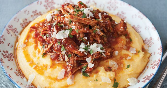 Pulled pork and polenta Easy Food