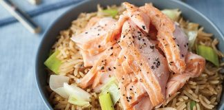 Sea trout with leeks and rice Easy Food