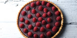 Raspberry chocolate tart Easy Food