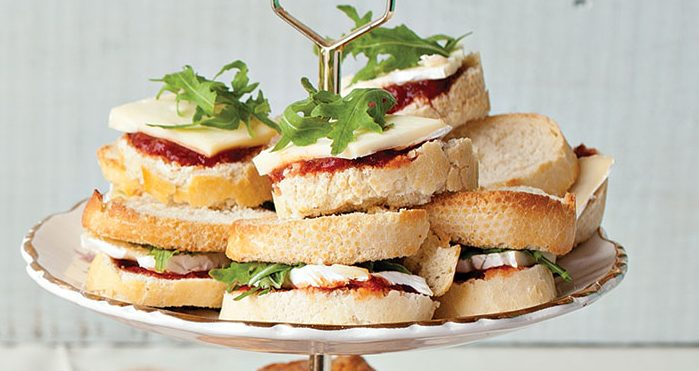 Brie finger sandwiches Easy Food