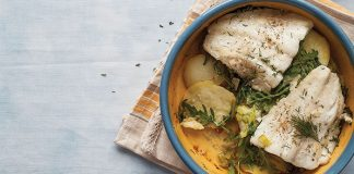 Baked fish and potatoes Easy Food