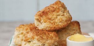 Cheese and spring onion scones Easy Food