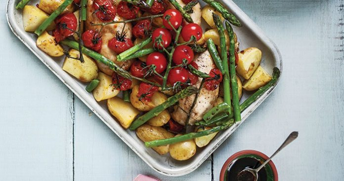 Balsamic chicken traybake Easy Food