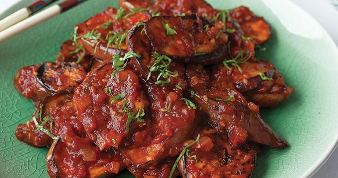 Spicy Chinese aubergines Easy Food