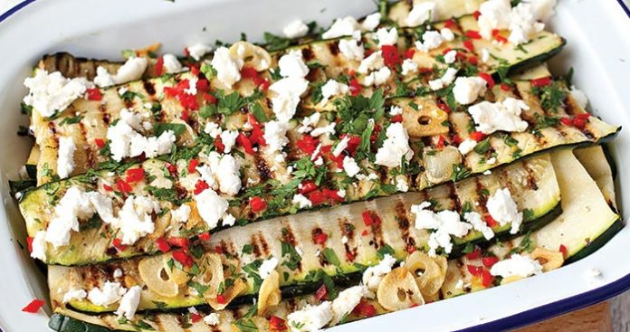 Griddled courgette salad Easy Food