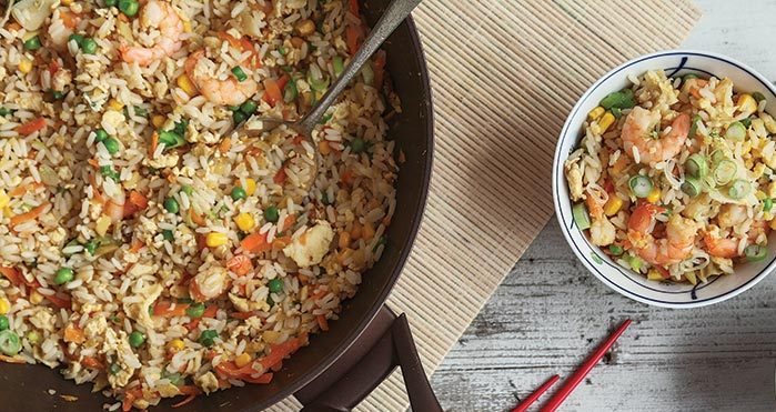 Ginger and prawn fried rice Easy Food