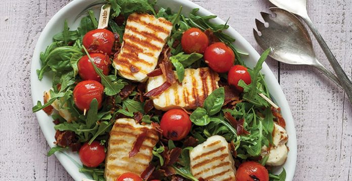 Halloumi BLT salad Easy Food