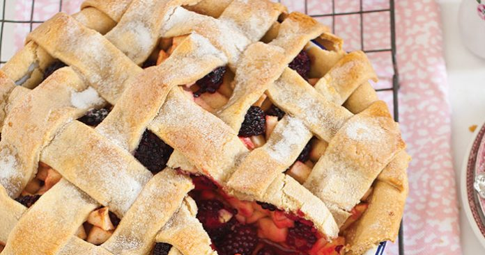 Apple and blackberry lattice pie Easy Food