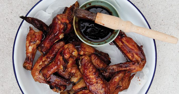 Sticky soy chicken wings Easy Food