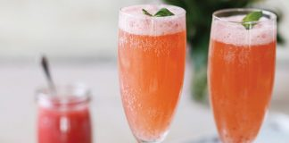 Strawberry rhubarb bellini Easy Food