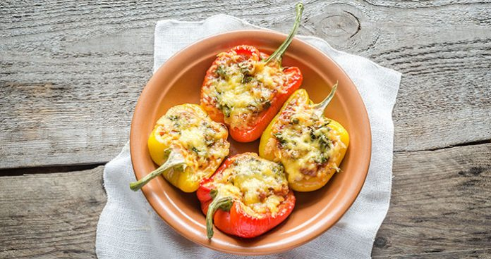 Turkey and quinoa stuffed peppers Easy Food