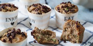 Banana and courgette breakfast muffins   Easy Food