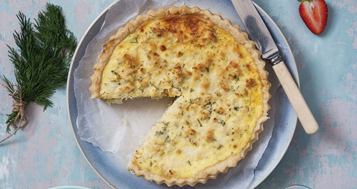 Crab and leek quiche | Easy Food