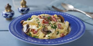 creamy bacon and mushroom pasta Easy Food