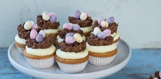 Easter cupcakes with nests   Easy Food