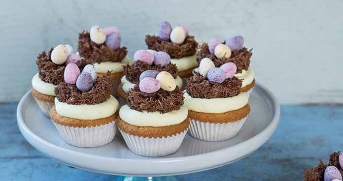 Easter cupcakes with nests | Easy Food