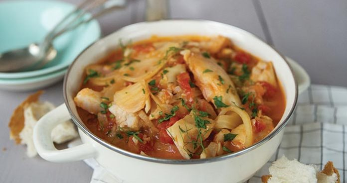 Tomato and fennel fish stew Easy Food